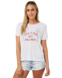 WHITE WOMENS CLOTHING BILLABONG TEES - 6572021WHT