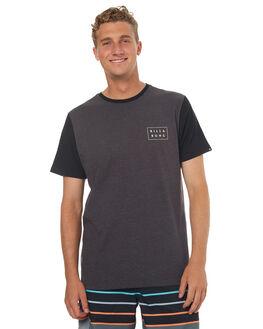BLACK HEATHER MENS CLOTHING BILLABONG TEES - 9572039BLH