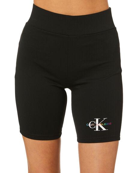BLACK WOMENS CLOTHING CALVIN KLEIN SHORTS - J20J217221BEH