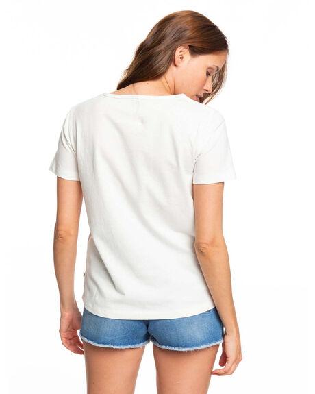 SNOW WHITE WOMENS CLOTHING ROXY TEES - ERJZT04746-WBK0