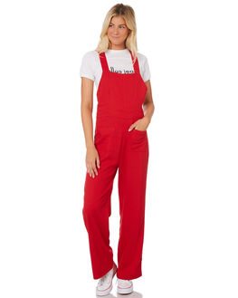 RED WOMENS CLOTHING ROLLAS PLAYSUITS + OVERALLS - 12831RED