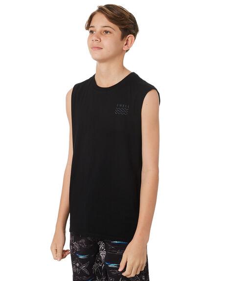 BLACK KIDS BOYS SWELL SINGLETS - S3171275BLACK