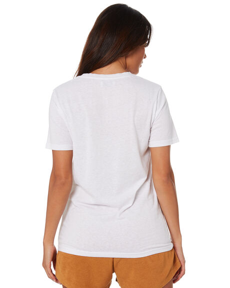 WHITE WOMENS CLOTHING SWELL TEES - S8211007WHITE