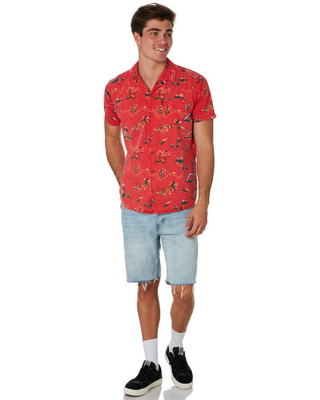 BRIGHT RED OUTLET MENS RIP CURL SHIRTS - CSHCY94851