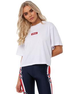 WHITE WOMENS CLOTHING STUSSY TEES - ST181008WHT