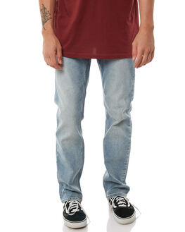 ANGLED BLEACH WASH MENS CLOTHING VOLCOM JEANS - A1931503ABW