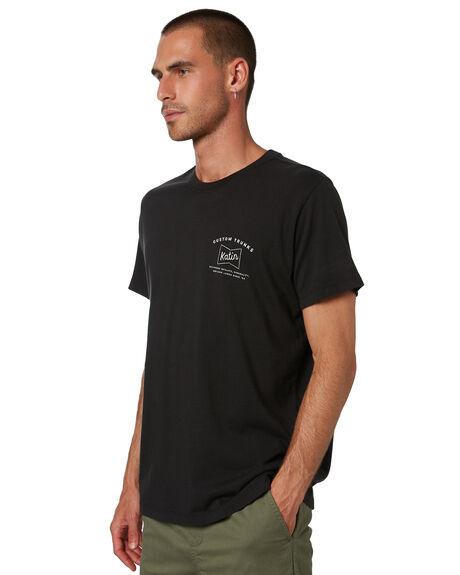 BLACK WASH MENS CLOTHING KATIN TEES - TSDEL07BWSH