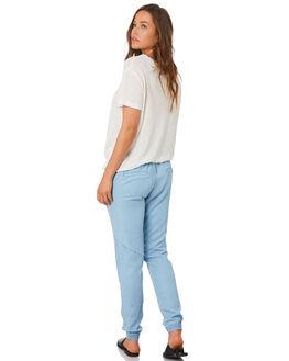 POWDERY BLUE WOMENS CLOTHING RUSTY PANTS - PAL1109PYB