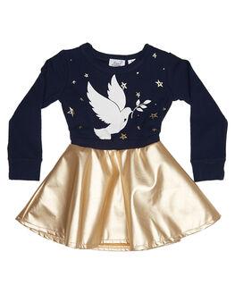 NAVY KIDS TODDLER GIRLS KISSED BY RADICOOL DRESSES - KR0708NVY