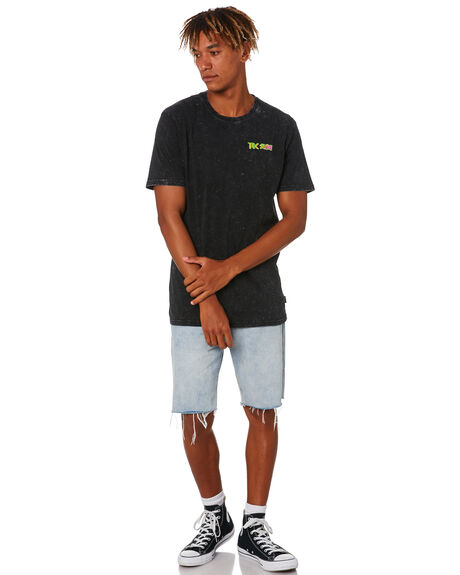 ACID BLACK MENS CLOTHING TOWN AND COUNTRY TEES - TTE815AABLK