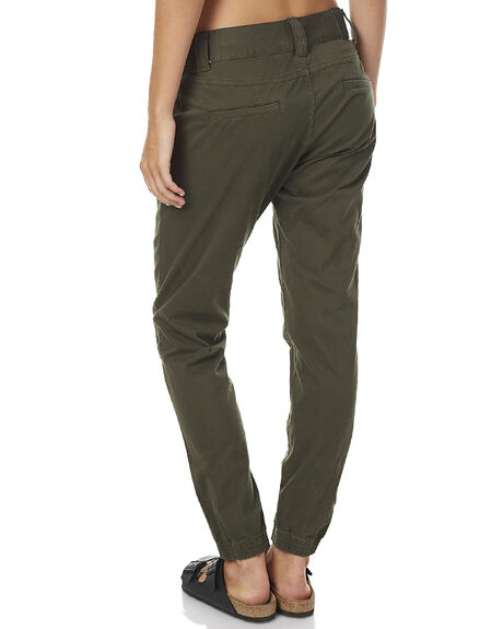 DARK OLIVE WOMENS CLOTHING RUSTY PANTS - PAL0898DAO