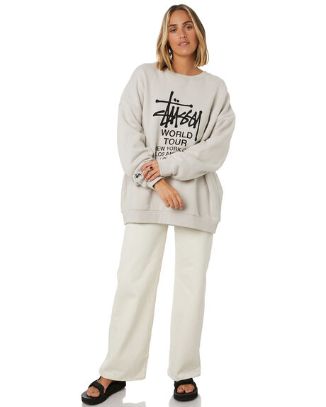 WHITE SAND WOMENS CLOTHING STUSSY JUMPERS - ST106310WHTSD