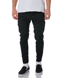 JET BLACK MENS CLOTHING NENA AND PASADENA PANTS - NPMFP001JBLK