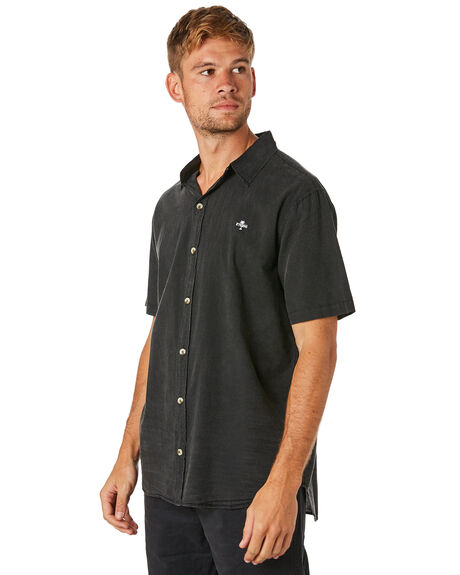 VINTAGE BLACK MENS CLOTHING THRILLS SHIRTS - TS8-200VBVNBLK