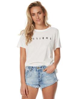 NATURAL WOMENS CLOTHING THRILLS TEES - WTH7-101ANAT