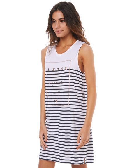 NAVY STRIPE WOMENS CLOTHING ELWOOD DRESSES - W74726NAVY