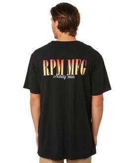 BLACK MENS CLOTHING RPM TEES - 8SMT06ABLK