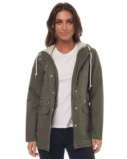 OLIVE WOMENS CLOTHING RHYTHM JACKETS - JUL16G-JK02OLI