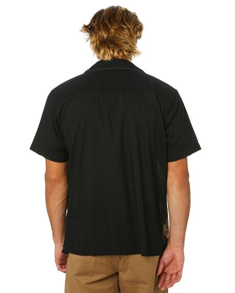 DIRTY BLACK MENS CLOTHING BANKS SHIRTS - WSS0121DBL