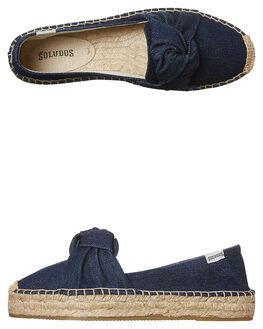 DARK DENIM WOMENS FOOTWEAR SOLUDOS FLATS - 1000135401