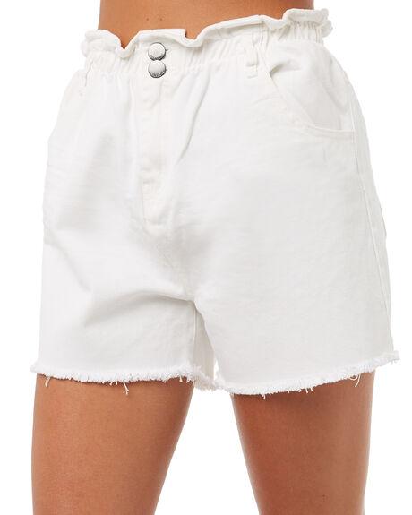 WHITE WOMENS CLOTHING BILLABONG SHORTS - 6585273WHT