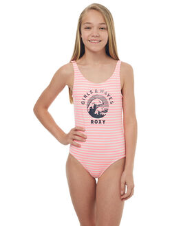 MARSHMELLOW STRIPE KIDS GIRLS ROXY SWIMWEAR - ERGX103024WBT3