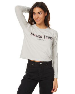 PALE GREY WOMENS CLOTHING STUSSY TEES - ST176011PGREY