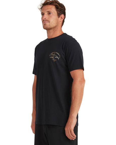 BLACK MENS CLOTHING QUIKSILVER TEES - UQMZT03136-KVJ0