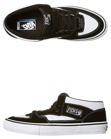 72ed8074269c Vans Half Cab Pro Suede Shoe - White Black White
