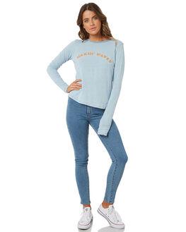 DREAM BLUE WOMENS CLOTHING BILLABONG TEES - 6585081DRMBL