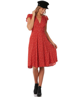RED HEARTS WOMENS CLOTHING ROLLAS DRESSES - 126223786