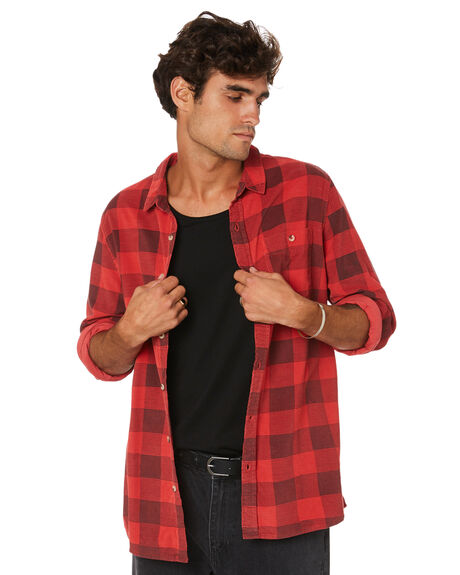RED CHECK MENS CLOTHING ROLLAS SHIRTS - 161231787