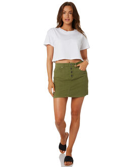 FADED OLIVE WOMENS CLOTHING RUSTY SKIRTS - SKL0484FDO