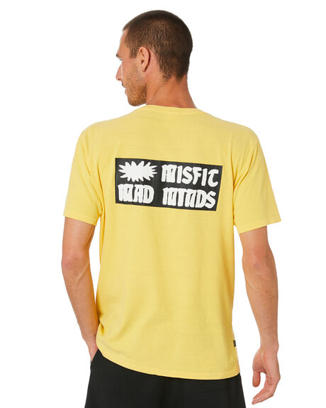 LIGHT YELLOW MENS CLOTHING MISFIT TEES - MT0M0002LYL