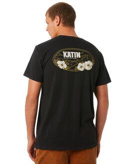BLACK WASH MENS CLOTHING KATIN TEES - TSMOU03BLKWS