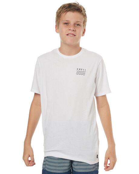 WHITE BLACK KIDS BOYS SWELL TOPS - S3164001WHTBK