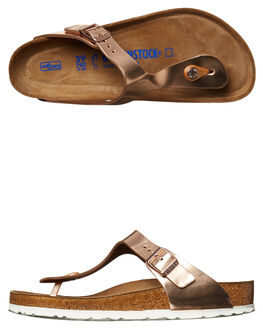 METALLIC COPPER WOMENS FOOTWEAR BIRKENSTOCK FASHION SANDALS - 005048METC