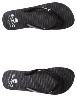BLACK MENS FOOTWEAR KUSTOM THONGS - 4347106ABLK