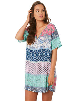 MULTI WOMENS CLOTHING TIGERLILY DRESSES - T392489MUL