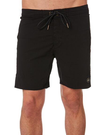 BLACK MENS CLOTHING DEUS EX MACHINA BOARDSHORTS - DMP92193BLK