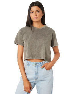 KHAKI WOMENS CLOTHING THE PEOPLE VS TEES - MOTHCROPTEE-KHA