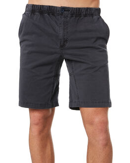 WASHED BLACK MENS CLOTHING DEPACTUS SHORTS - D5193232WBLK