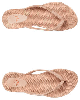 ROSE GOLD WOMENS FOOTWEAR RUSTY THONGS - FOL0317RSG