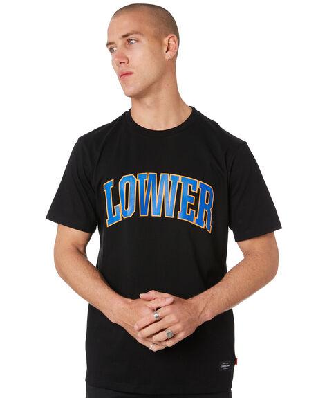 BLACK MENS CLOTHING LOWER TEES - LO19Q3MTS08BLK