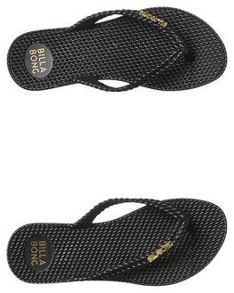 BLACK WOMENS FOOTWEAR BILLABONG THONGS - 6661856BLK
