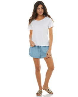 SKY BLUE WOMENS CLOTHING RUSTY SHORTS - WKL0590SYB