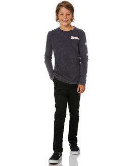 BLACK KIDS BOYS ALPHABET SOUP PANTS - AS-KPA8370BBLK