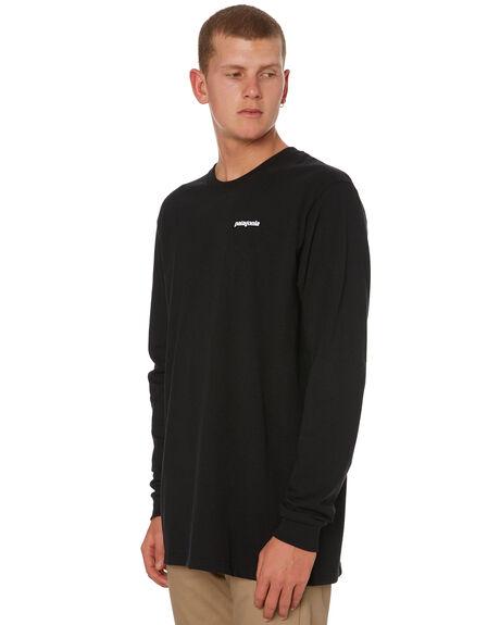 BLACK MENS CLOTHING PATAGONIA TEES - 39042BLK