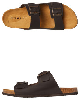 CHOCOLATE MENS FOOTWEAR SWELL SLIDES - 100010CHOC