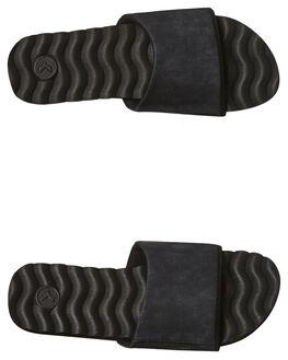 BLACK DISTRESS MENS FOOTWEAR KUSTOM THONGS - 4966202ABLKDI